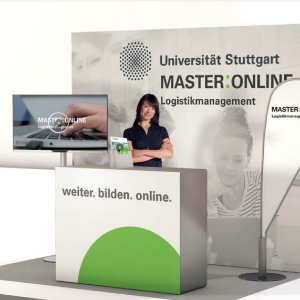 Messestand MASTER:ONLINE Logistikmanagement